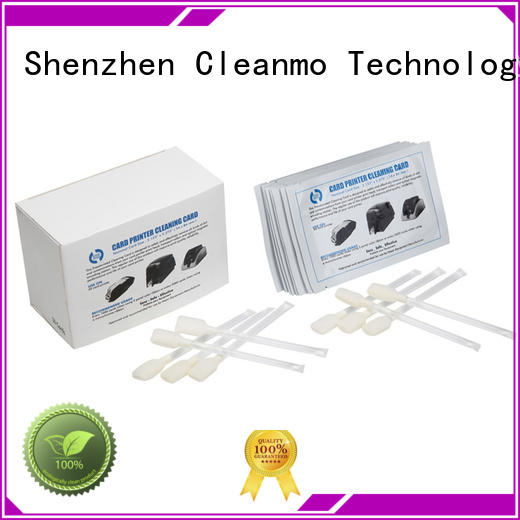 Cleanmo T shape zebra cleaning card supplier for ID card printers