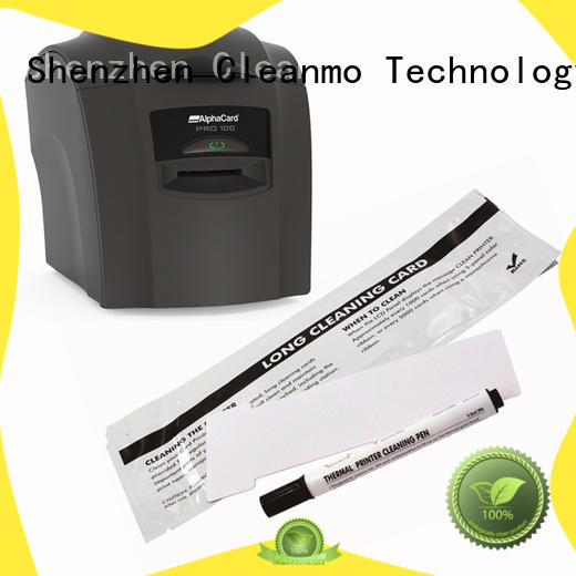 Cleanmo durable AlphaCard long T Cleaning Cards wholesale for AlphaCard PRO 100 Printer
