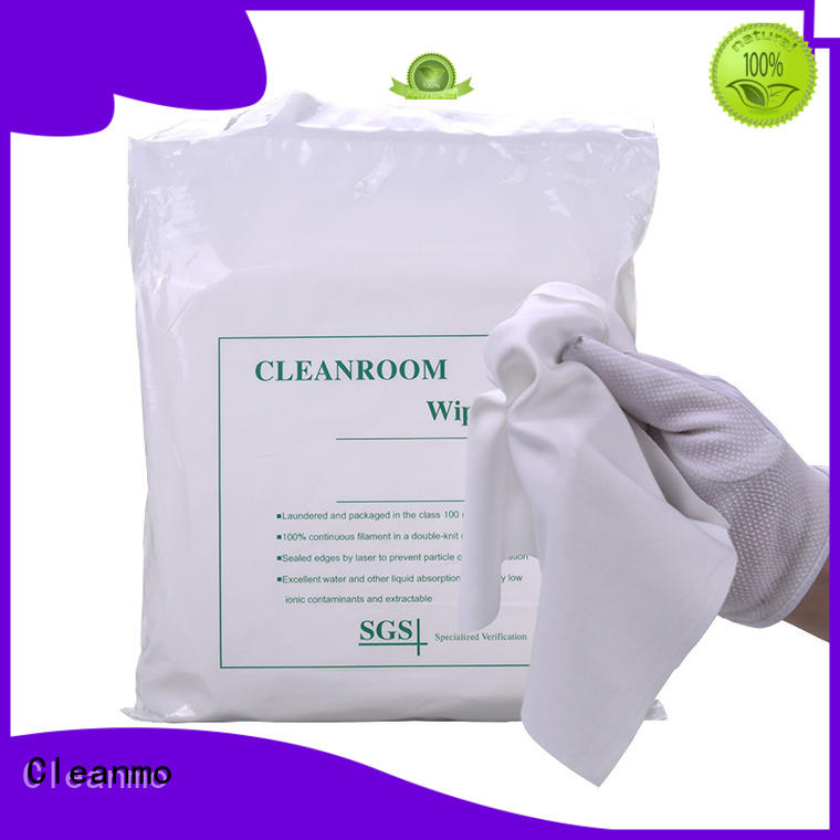 Cleanmo non-abrasive texture Polyester wipe for Industrial wholesale for chamber cleaning