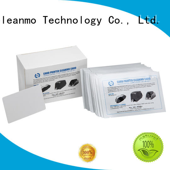 Cleanmo easy handling waffle cleaning cards factory price for ATM machines