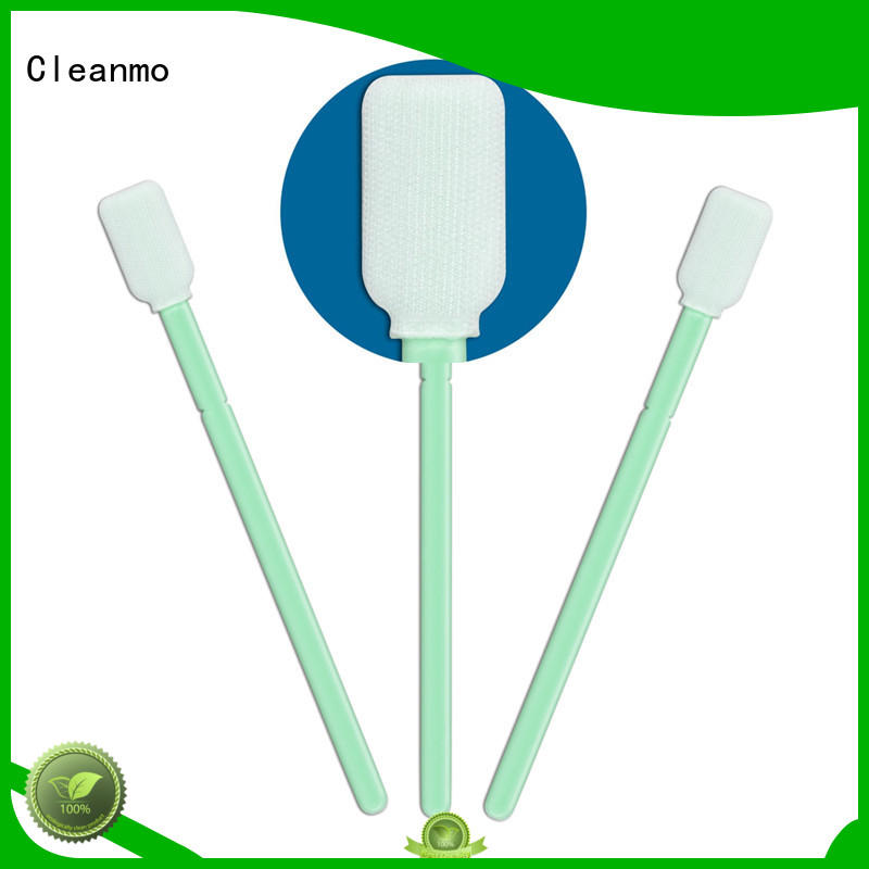 Cleanmo double-layer knitted polyester cleanroom polyester swabs factory for printers