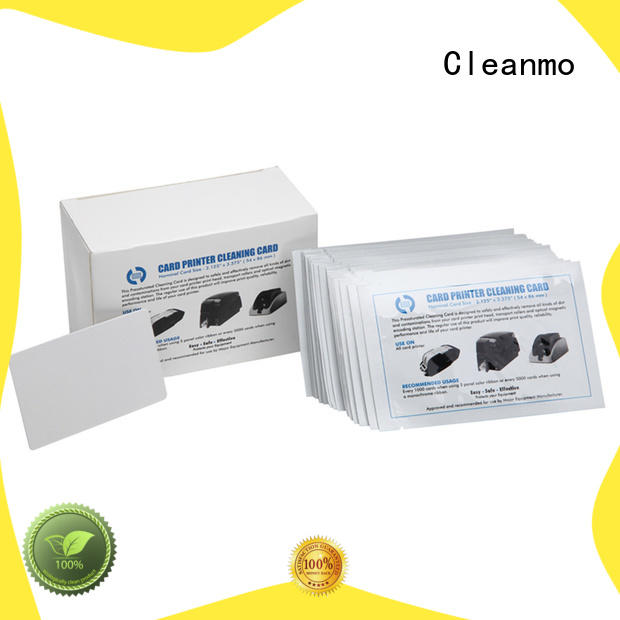 Cleanmo cheap card reader cleaning card factory price for ATM machines