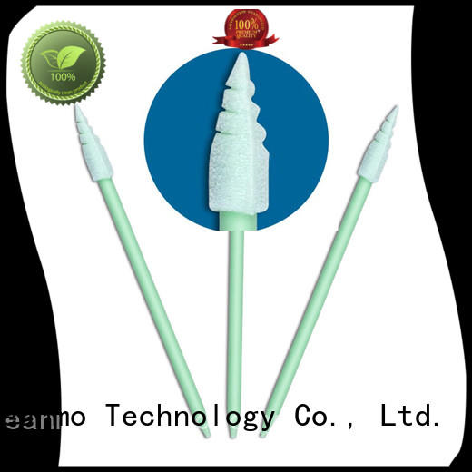 Cleanmo small ropund head colored cotton swabs supplier for Micro-mechanical cleaning