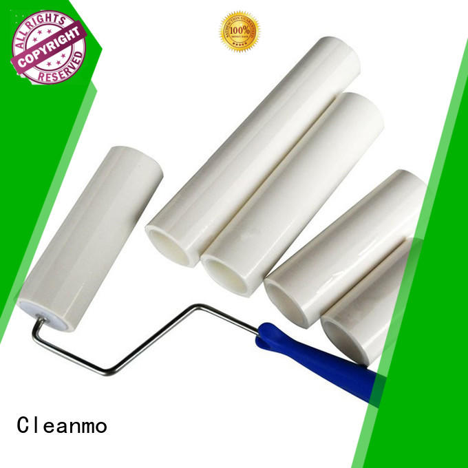 Cleanmo coated adhesive floor lint roller manufacturer for semiconductor