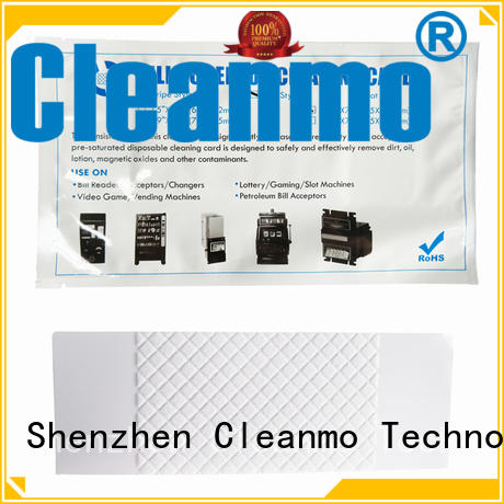 Cleanmo flocked fabric atm cleaning cards manufacturer for video game machines