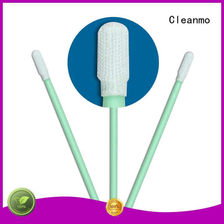 Cleanmo polypropylene handle sterile polyester swabs factory for printers