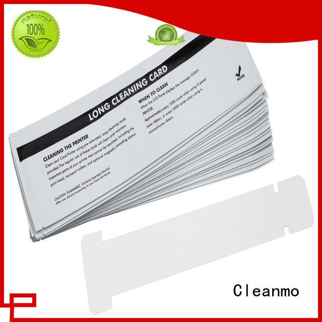 Aluminum foil packing zebra cleaners factory for Zebra P120i printer Cleanmo