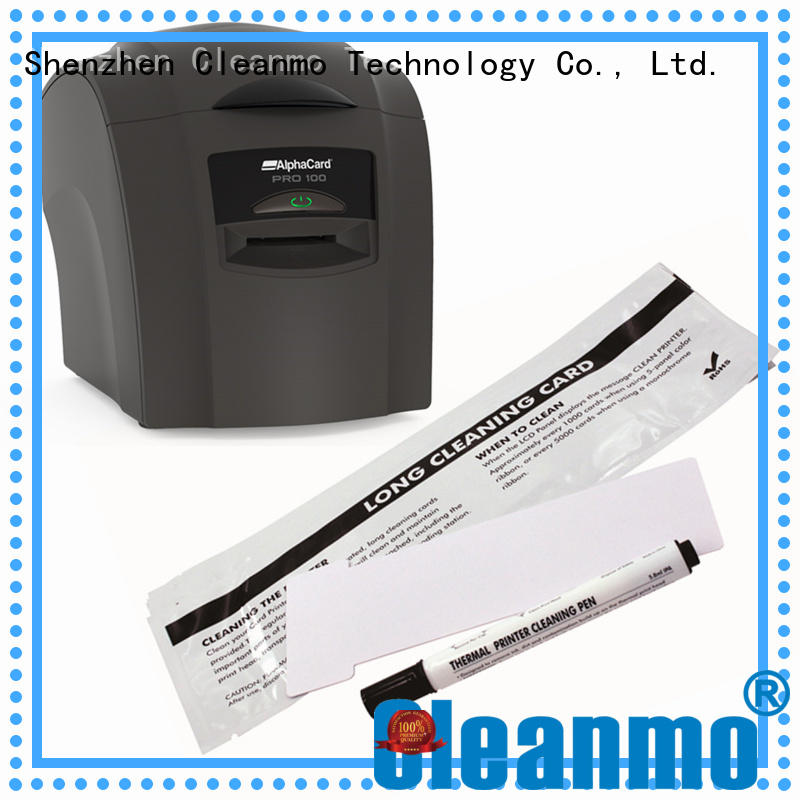 Cleanmo cost effective AlphaCard long T Cleaning Cards supplier for AlphaCard PRO 100 Printer