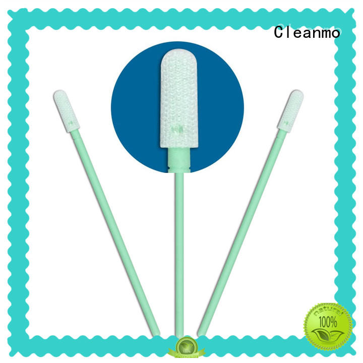 Cleanmo double-layer knitted polyester polyester swab wholesale for microscopes