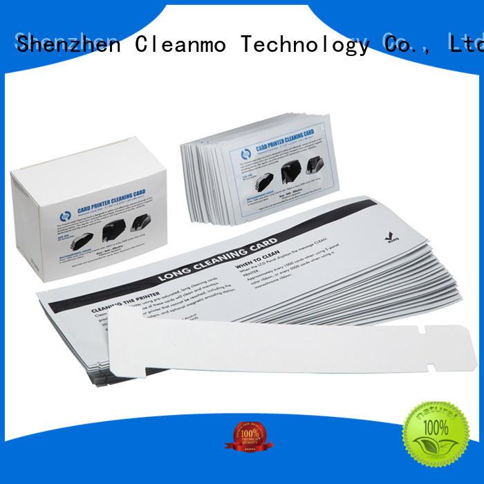 Cleanmo safe zebra printer cleaning cards supplier for Zebra P120i printer