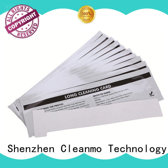 Cleanmo quick Evolis Cleaning cards factory price for Cleaning Printhead