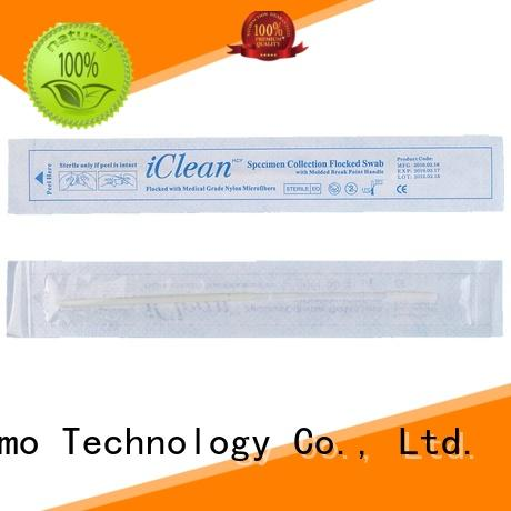 frosted tail of swab handle sampling swabs molded break point for rapid antigen testing Cleanmo