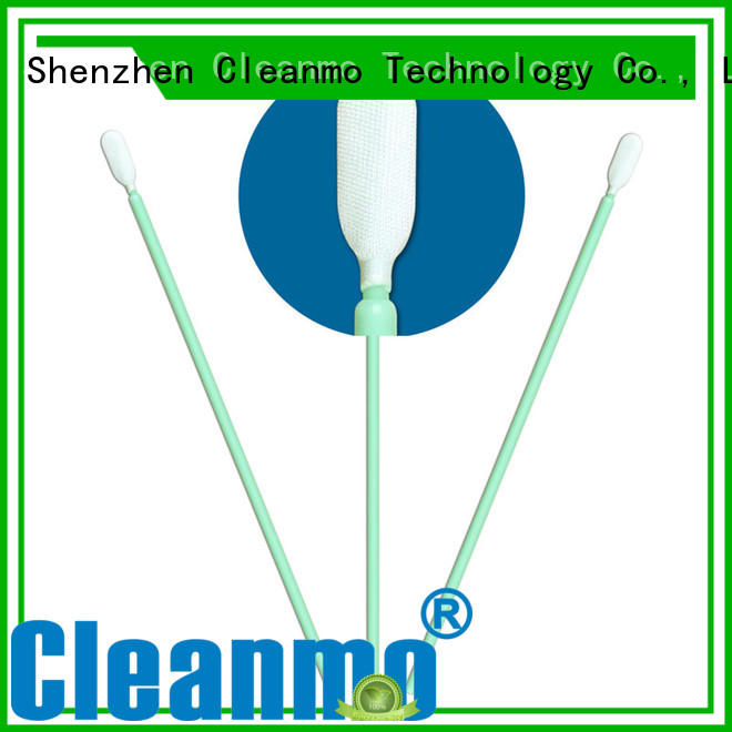 Cleanmo excellent chemical resistance Microfiber Industrial Swab Sticks supplier for excess materials cleaning