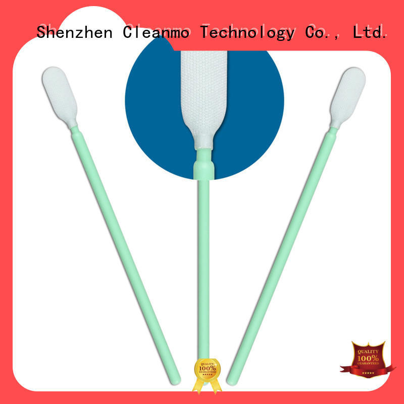 Cleanmo double layers of microfiber fabric sensor swab factory price for Micro-mechanical cleaning
