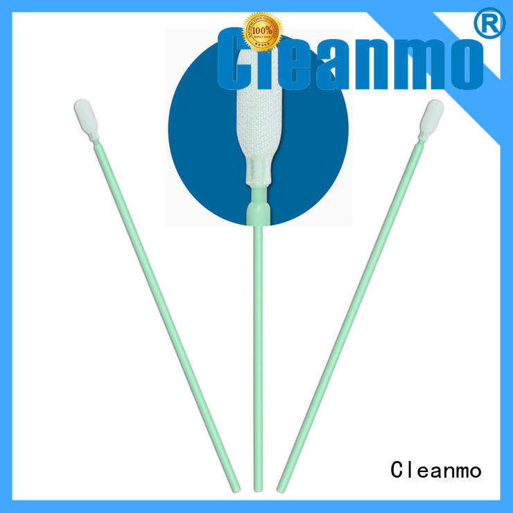 Cleanmo flexible paddle safety swabs supplier for optical sensors