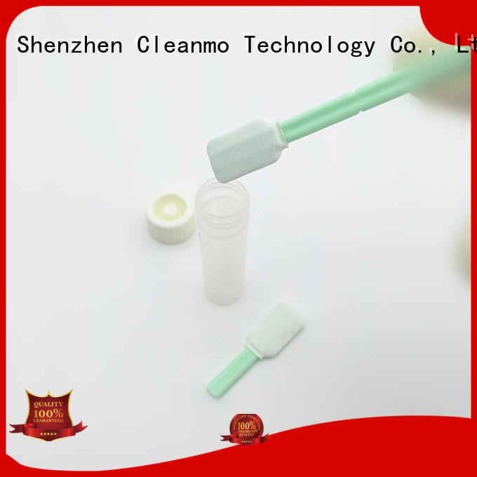 Cleanmo Polypropylene handle sterile Polyester swab supplier for test residues of previously manufactured products