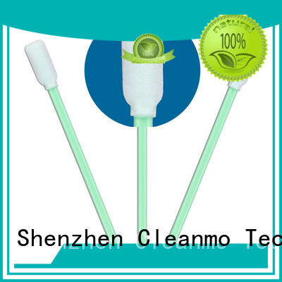 Cleanmo green handle cotton tips wholesale for general purpose cleaning