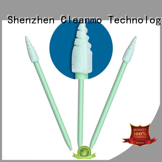 Cleanmo small ropund head large swabs factory price for Micro-mechanical cleaning