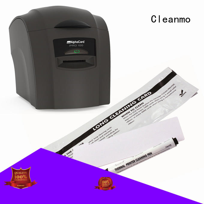 Cleanmo PP AlphaCard long T Cleaning Cards manufacturer for AlphaCard PRO 100 Printer