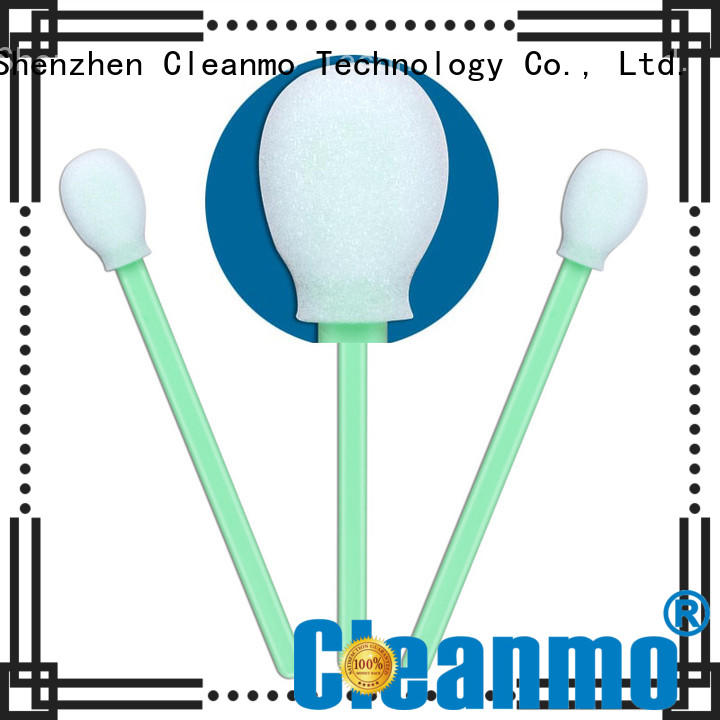 Cleanmo green handle ear swab wholesale for Micro-mechanical cleaning