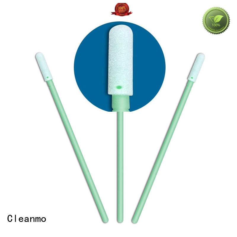 Cleanmo green handle sponge swabs manufacturer for excess materials cleaning