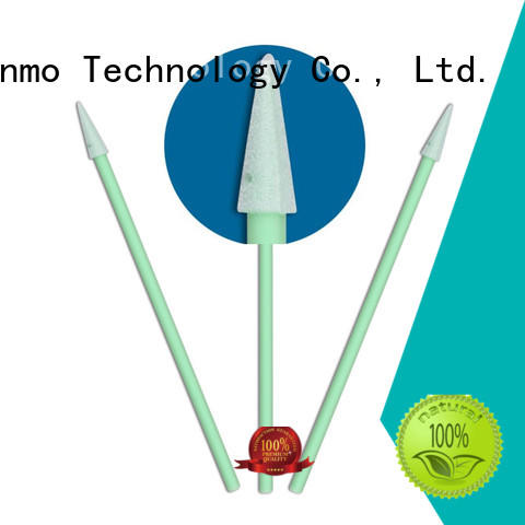 cost-effective lint free Sponge Swabs green handle factory price for excess materials cleaning