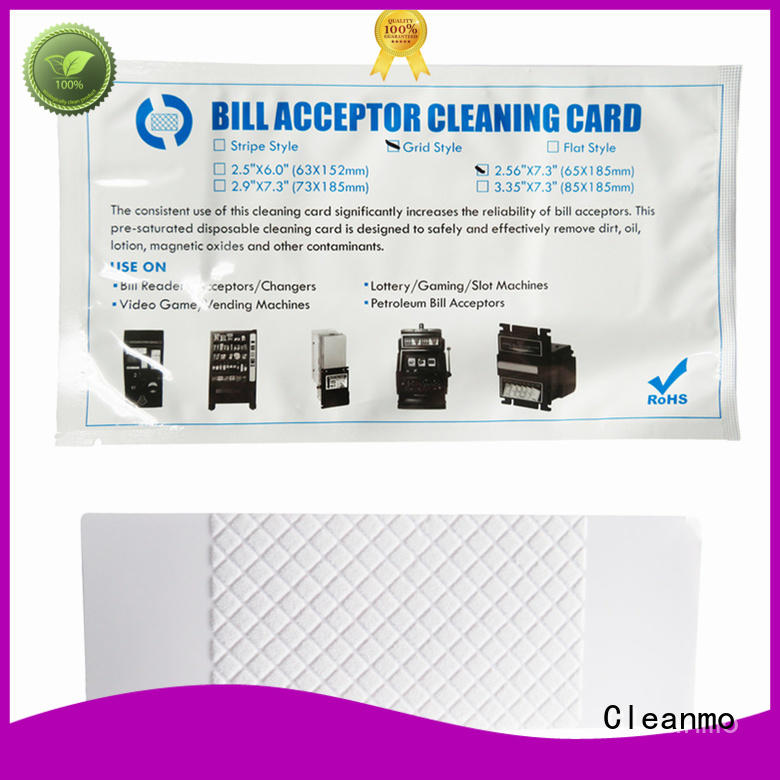 Cleanmo cost effective alcohol cleaning cards wholesale for readers