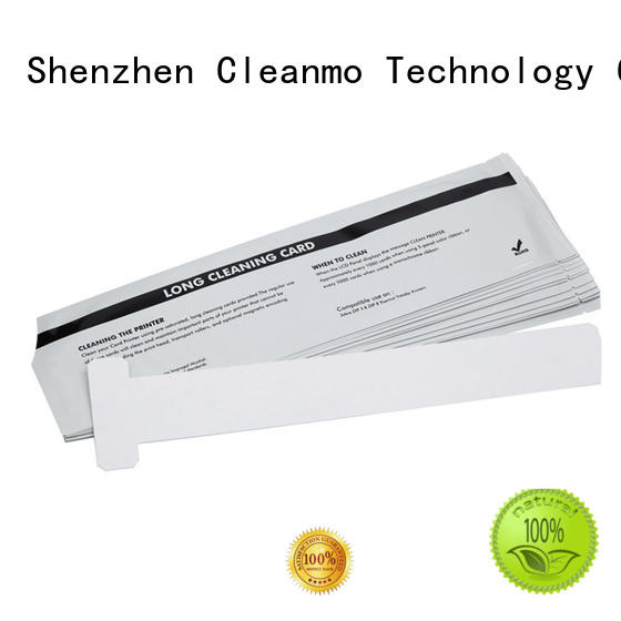 Cleanmo T shape zebra printer cleaning wholesale for ID card printers