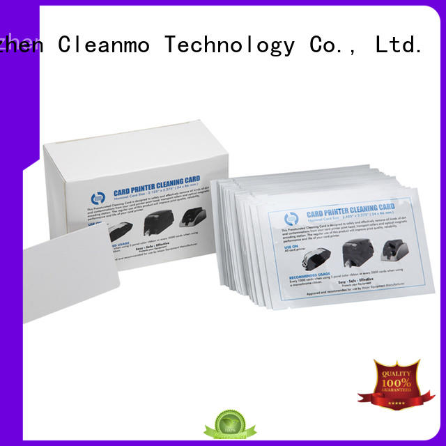 Cleanmo non woven electronic card cleaner supplier for Smart Card Readers
