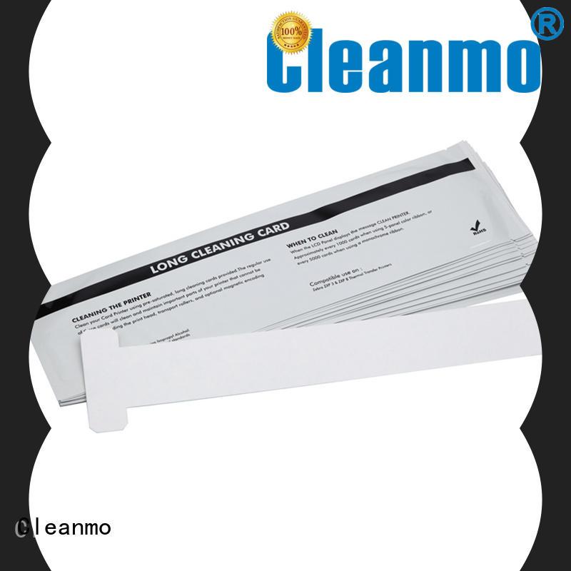 Cleanmo pvc zebra printhead cleaning manufacturer for Zebra P120i printer