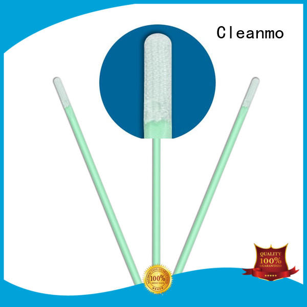Cleanmo excellent chemical resistance Microfiber Industrial Swab Sticks factory price for Micro-mechanical cleaning