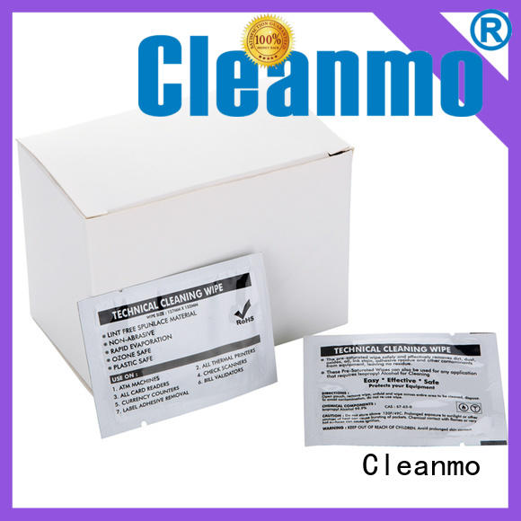 Cleanmo high quality printer cleaning supplies manufacturer for ID card printers