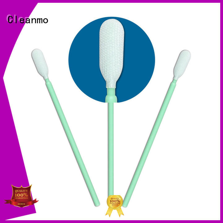 Cleanmo polypropylene handle dacron swab supplier for printers