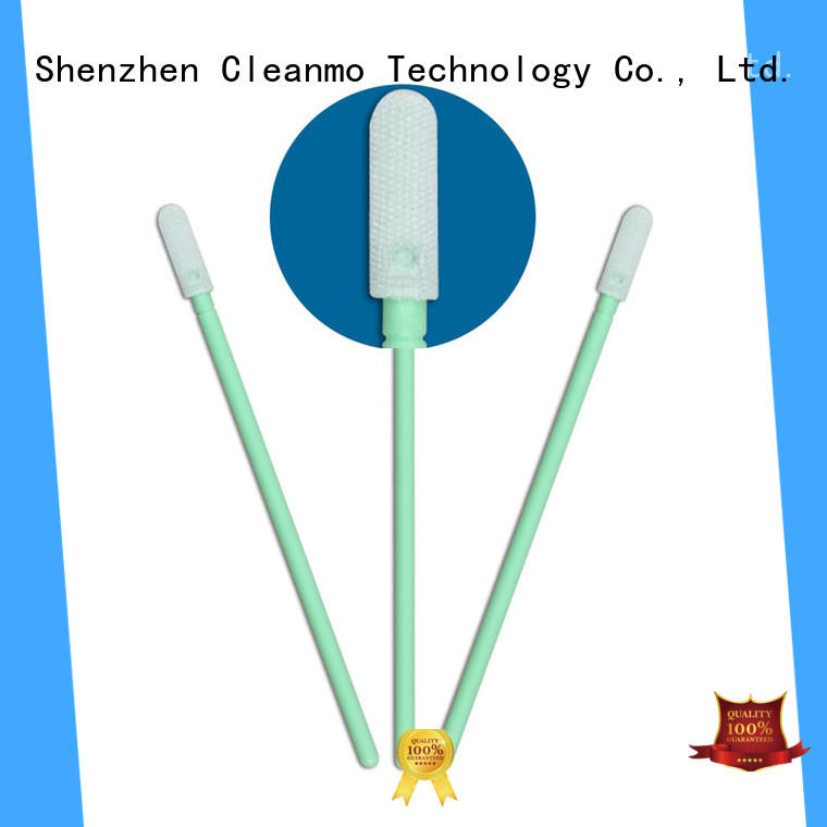 Cleanmo Polypropylene handle clean tips swabs supplier for general purpose cleaning