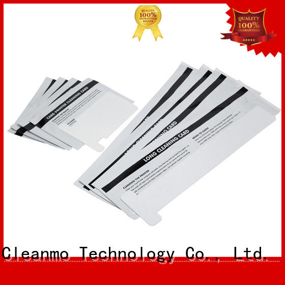 Cleanmo disposable zebra printhead cleaning wholesale for Zebra P120i printer