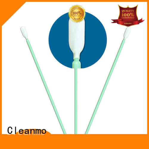 Cleanmo double layers of microfiber fabric precision cotton swabs wholesale for Micro-mechanical cleaning