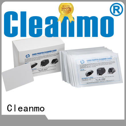 Cleanmo spunlace credit card cleaner wholesale for ATM machines