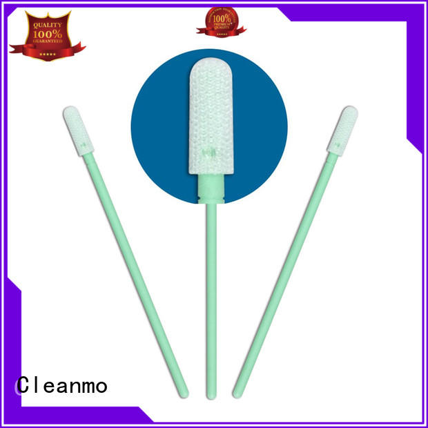 Cleanmo polypropylene handle Industrial polyester swabs factory for general purpose cleaning