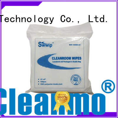 polyester cleanroom wipes cleanroom polyester Cleanmo Brand polyester wiper