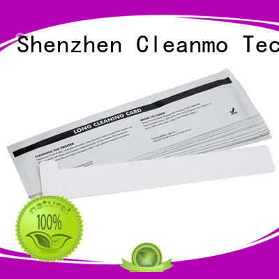 Cleanmo Aluminum foil packing zebra printer cleaning wholesale for ID card printers