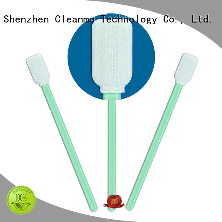 Cleanmo Polypropylene handle Microfiber Industrial Swab Sticks wholesale for general purpose cleaning