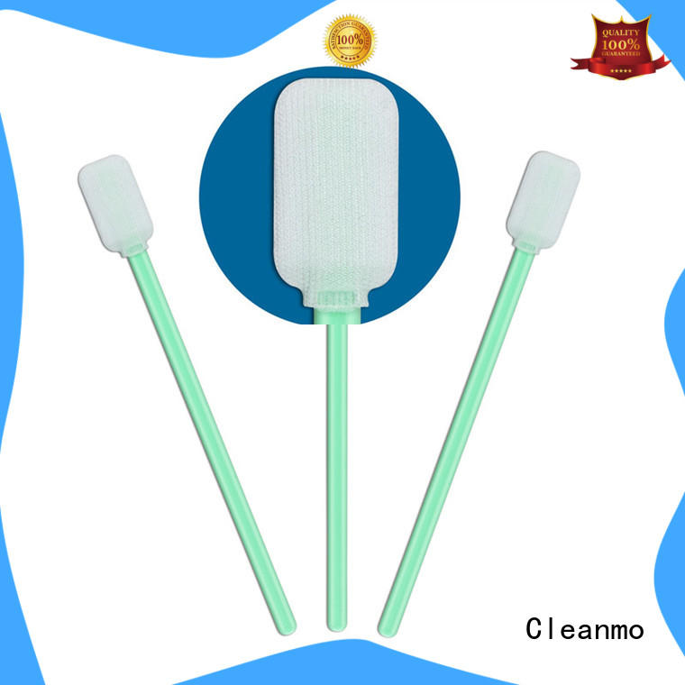 Cleanmo good quality Cleanroom polyester swab supplier for printers