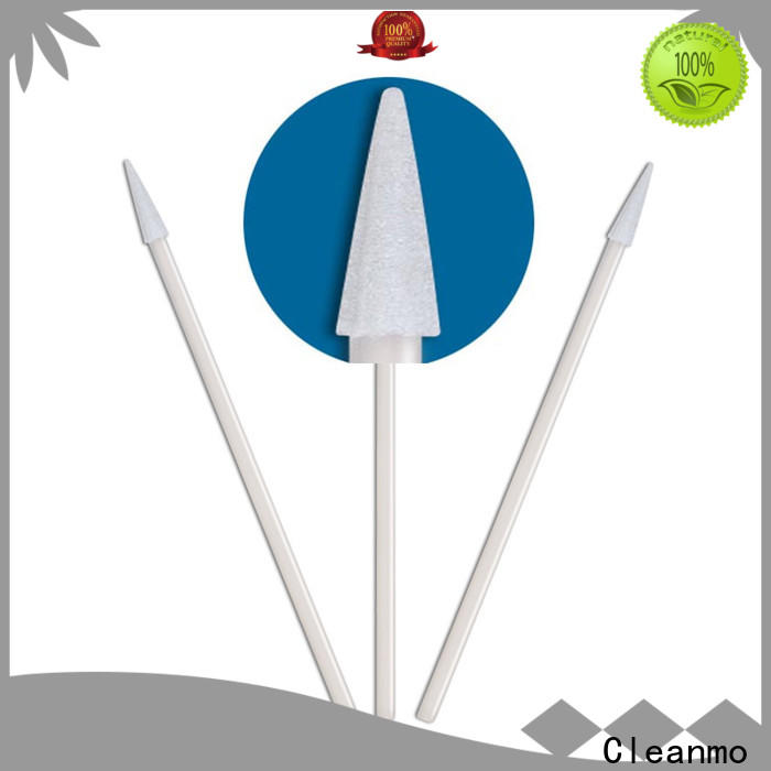 Cleanmo ESD-safe Polypropylene handle alcohol swabs supplier for general purpose cleaning