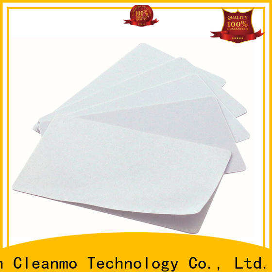 Cleanmo High and LowTack Double Coated Tape Evolis Cleaning cards factory price for Cleaning Printhead