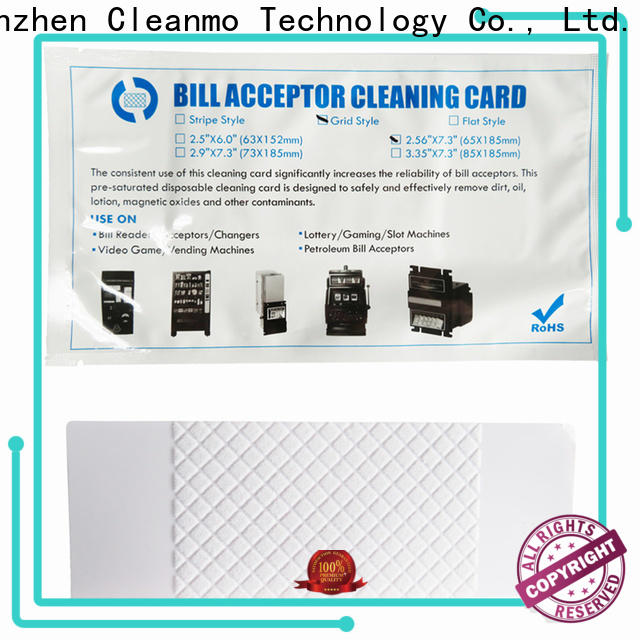 durable bill validator cleaning cards white supplier for readers