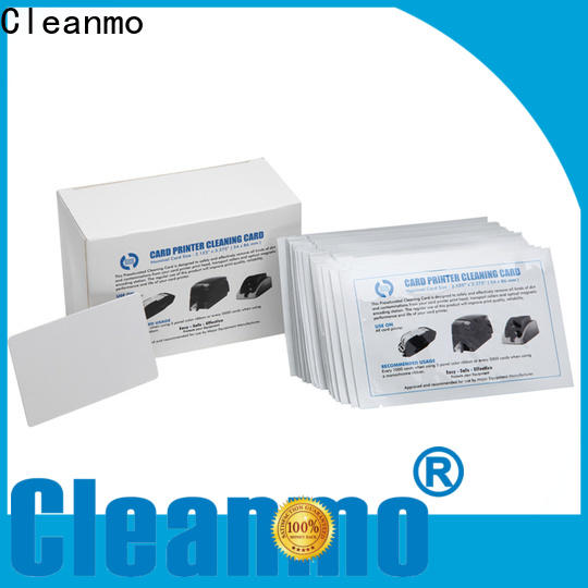Cleanmo laminate hotel door lock cleaning card manufacturer for ID Card Printers