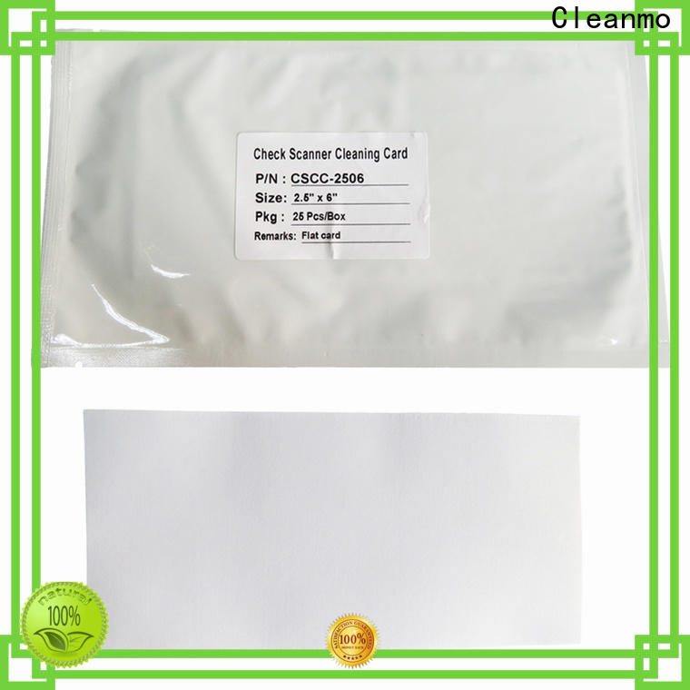 Cleanmo pvc panini check scanner cleaning card supplier for Digital Check TellerScan