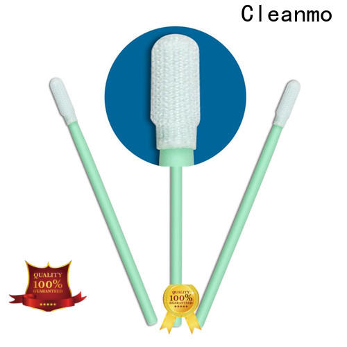 Cleanmo safe material knitted polyester swabs factory for printers