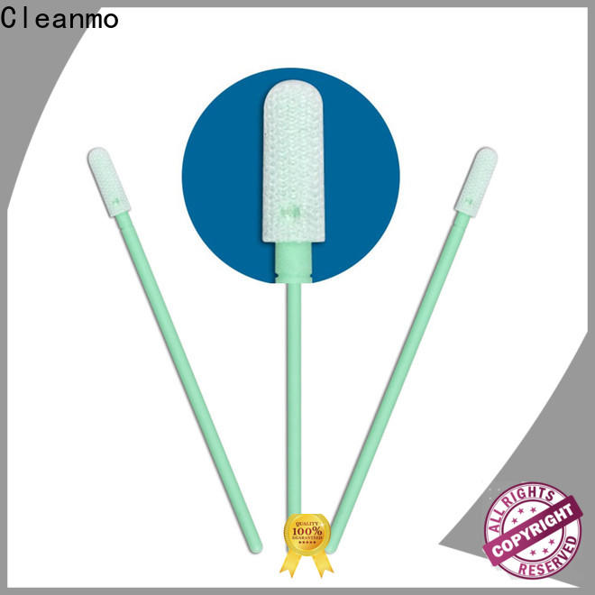 Cleanmo excellent chemical resistance Cleanroom dacron swabs factory for optical sensors