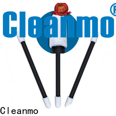 Cleanmo precision tip head organic cotton swabs supplier for Micro-mechanical cleaning